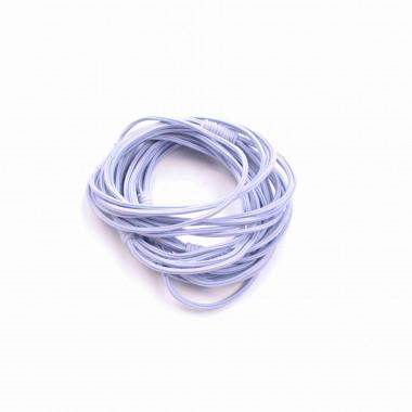 Gumičky do vlasů vázané pudrově modré 5 ks / 5 cm