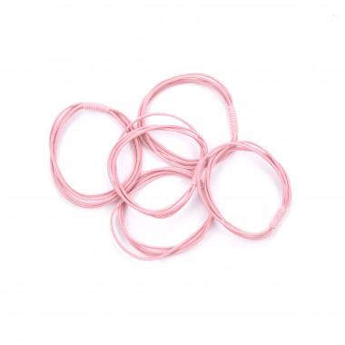 Gumičky do vlasů vázané pudrově růžové 5 ks / 5 cm