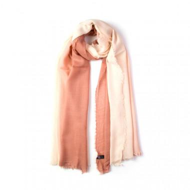 Lososový dámský šátek duhový 200/80