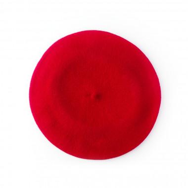 Dámský vlněný baret sytě červený Tonak