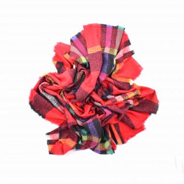 Maxi šála deka objemná červená 140/140