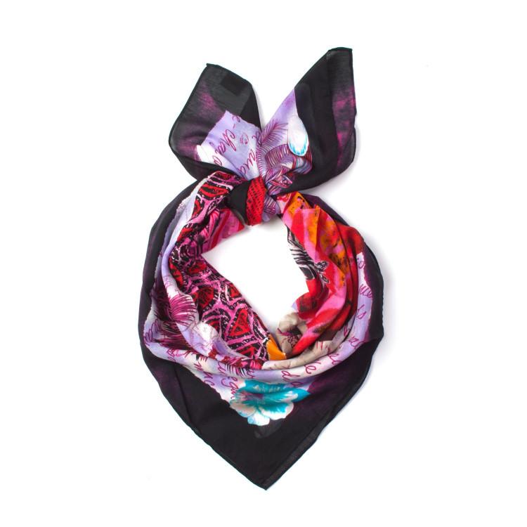 831d926bbd1 Fraas čtvercový bavlněný šátek na krk s hedvábím 105 105