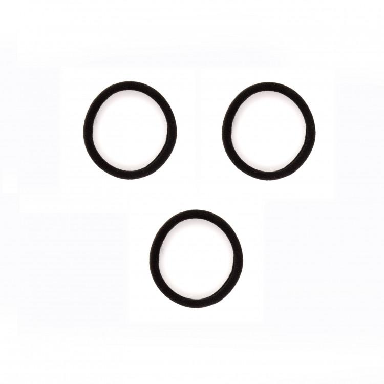 Gumičky do vlasů černé bez spoje 4 cm   3 ks  bd4d56a0e4