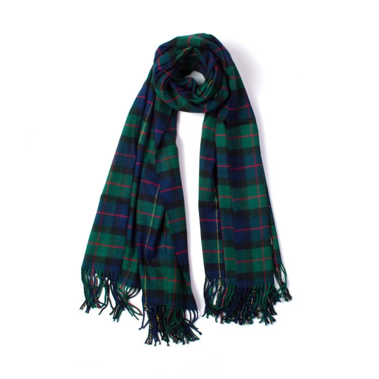 d62fe93f871 Zimní károvaná šála zelená 200 70